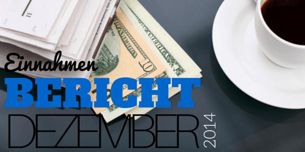 Einnahmen Bericht November 2014 Facebook Seite