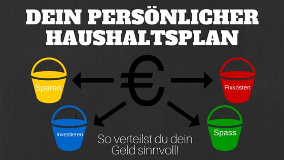 DEIN HAUSHALTSPLAN - so verteilst du dein Geld sinnvoll