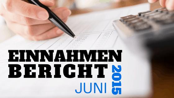 Einnahmen Bericht Juni 2015