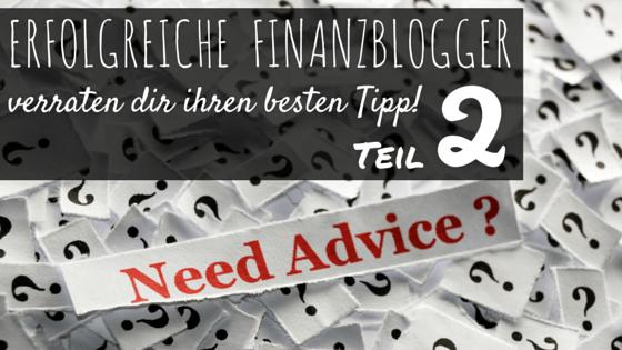 Finanzblogger verraten ihren besten Tipp