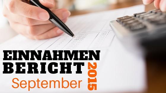 Einnahmen Bericht September 2015