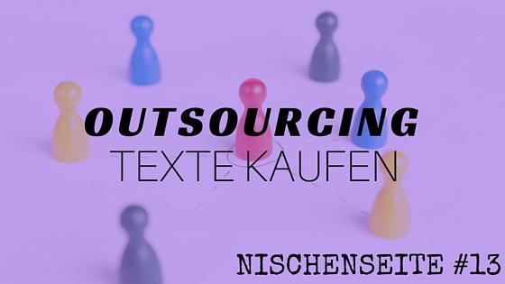 NISCHENSEITE #13 Outsourcing_ Texte kaufen